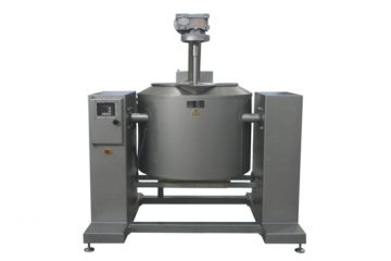 Tiltable vat with stirrer