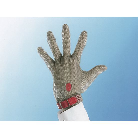 Metallic mesh glove