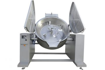 Wok type mixer fryer